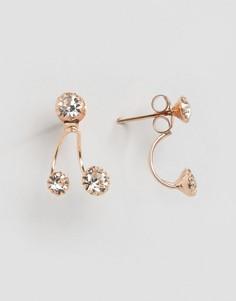 Позолоченные серьги с камнями Kingsley Ryan - Золотой