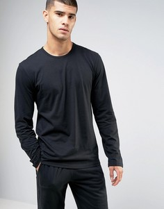 Хлопковый лонгслив для дома Calvin Klein One - Черный