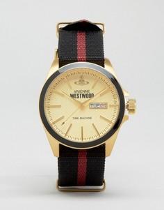 Часы с полосатым парусиновым ремешком Vivienne Westwood - Мульти