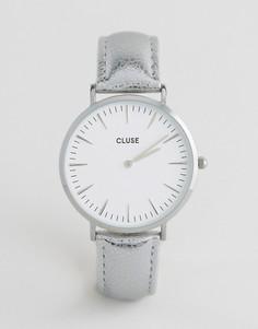 Часы с серебристым корпусом и кожаным ремешком CLUSE La Boheme CL18233 - Серебряный