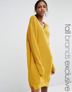 Свободное платье-джемпер Daisy Street Tall - Желтый