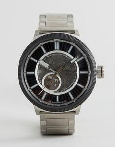 Автоматические часы-браслет из нержавеющей стали Armani Exchange AX1415 - Серебряный