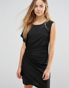 Облегающее платье с присборенной драпировкой сбоку Jasmine - Черный