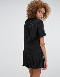 Платье с кружевной вставкой на спине Sister Jane Shadowplay - Черный