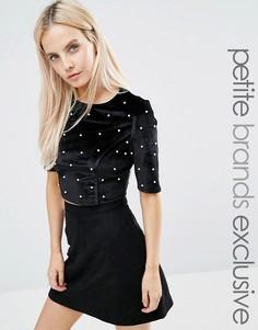 Кроп-топ Fashion Union Petite - Черный