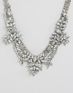 Броское ожерелье с камнями Love Rocks - Серебряный