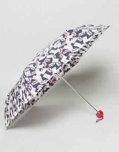 Ультракомпактный зонт с принтом конвертов Lulu Guinness - Черный