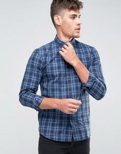 Фланелевая рубашка в клетку Jack and Jones - Темно-синий
