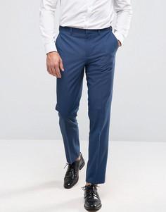 Фактурные брюки узкого кроя Burton Menswear - Синий