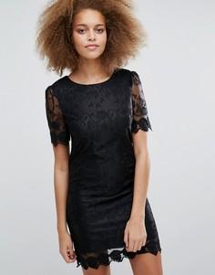 Кружевное цельнокройное платье Pussycat London - Черный
