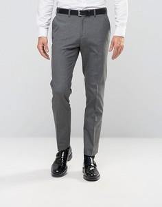 Строгие брюки слим Burton Menswear - Серый