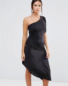 Платье миди на одно плечо Pussycat London - Черный