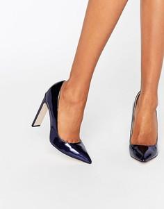 Темно-синие туфли-лодочки с эффектом металлик Paper Dolls Dulcina - Темно-синий