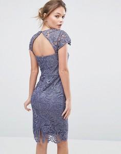 Кружевное платье с вырезом сзади Paper Dolls - Серый
