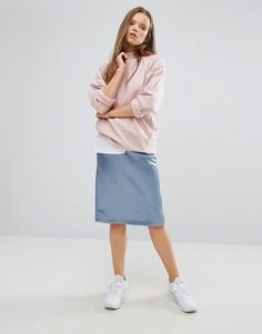 Шелковистая юбка-карандаш STYLENANDA - Синий