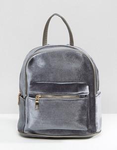Бархатный рюкзак 7X - Серый