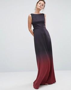Платье макси с эффектом омбре Ted Baker - Мульти