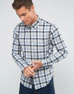 Рубашка в синюю клетку с 2 карманами Abercrombie & Fitch - Синий