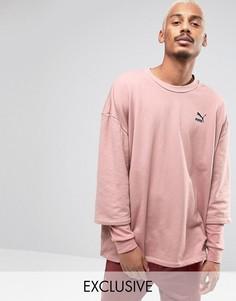 Розовый свитшот с двухслойными рукавами Puma эксклюзивно для ASOS - Розовый