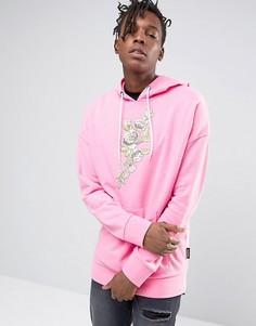Oversize-худи с цветочным принтом Jaded London - Розовый