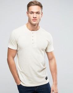 Окрашенная футболка хенли Abercrombie & Fitch - Бежевый