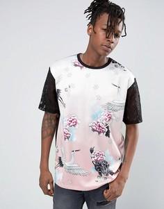 Футболка с цветочным принтом Jaded London - Розовый