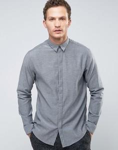 Рубашка узкого кроя с длинными рукавами Selected Homme - Серый