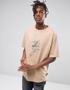 Oversize-футболка с цветочным принтом Jaded London - Stone