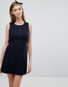 Цельнокройное платье со складками Jack Wills - Темно-синий