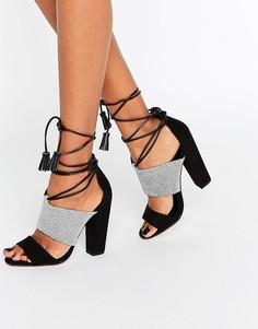 Монохромные сандалии с кисточками Paper Dolls Nixie - Черный