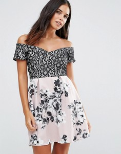 Платье с принтом Wal G - Мульти