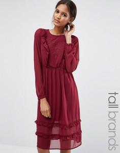Платье с рюшами спереди Vero Moda Tall - Красный