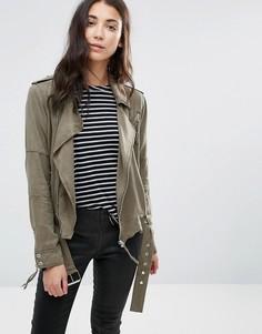 Куртка в стиле милитари Pam & Gela - Зеленый