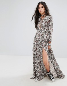 Платье макси с завязкой спереди Milk It - Кремовый