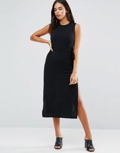 Платье миди Wal G - Черный