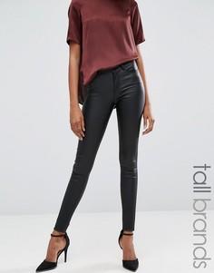Джинсы скинни с покрытием Vero Moda Tall - Черный