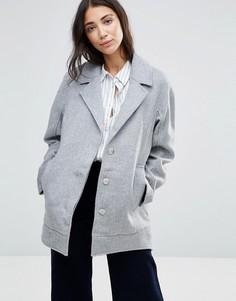 Шерстяное пальто-бушлат Parka London Agda - Серый