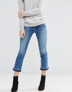 Укороченные расклешенные джинсы Only Nadia - Синий
