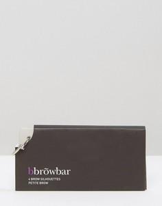 Миниатюрные трафареты для бровей bbrowbar - Бесцветный