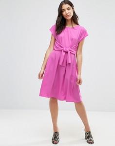 Платье с поясом Closet Blu - Розовый