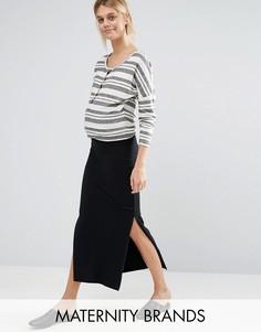 Узкая юбка макси Mamalicious - Черный Mama.Licious