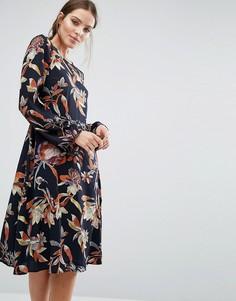 Платье миди Y.A.S Lilja - Мульти