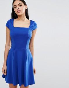 Короткое приталенное платье Pussycat London - Синий