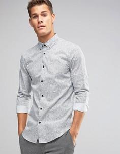 Узкая рубашка с принтом Burton Menswear - Белый