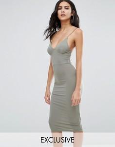 Платье-миди с бретельками Club L - Зеленый