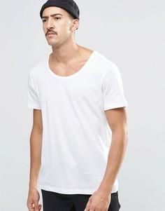 Белая футболка Weekday Daniel - Белый