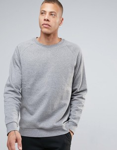Меланжевый свитшот Weekday Paris - Серый