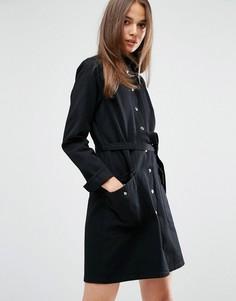 Платье-рубашка в стиле милитари с поясом M.i.h Jeans Ohio - Черный