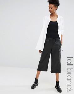 Полиуретановые юбка-шорты Noisy May Tall - Черный