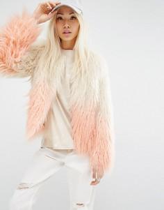 Куртка с эффектом деграде Unreal Fur Pastorale - Розовый